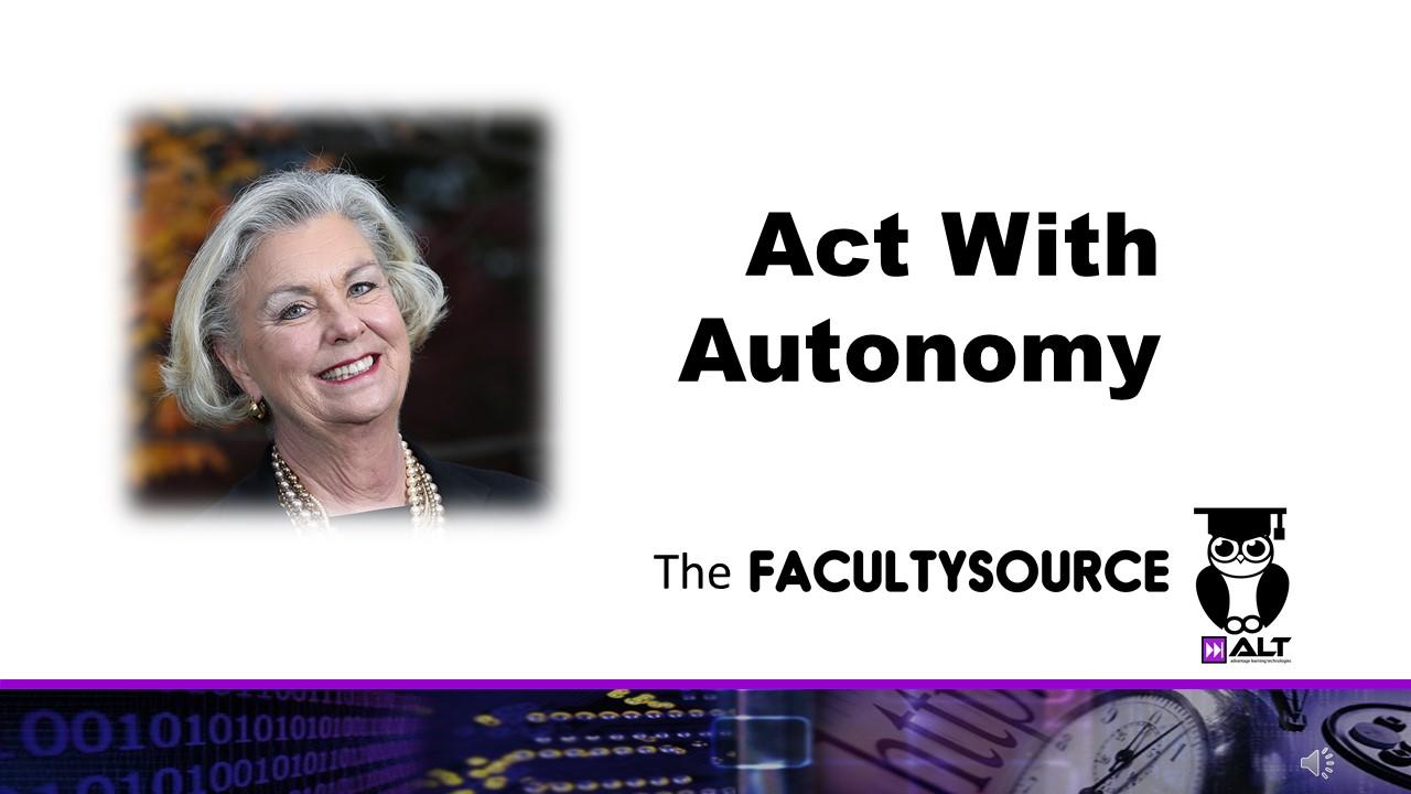 #WHF: Act With Autonomy